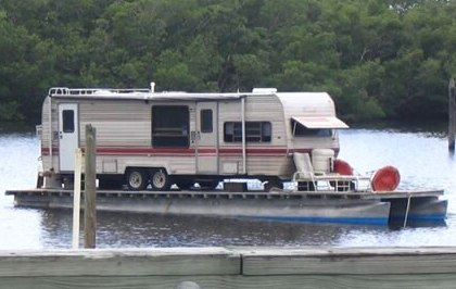 you ever had to help your cousin take the wheels off his house boat